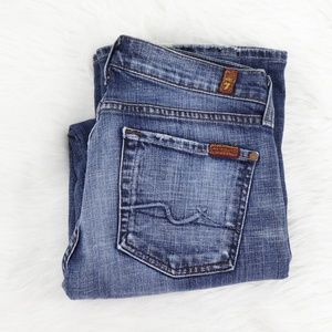 7 for all Mankind Distressed bootcut jeans